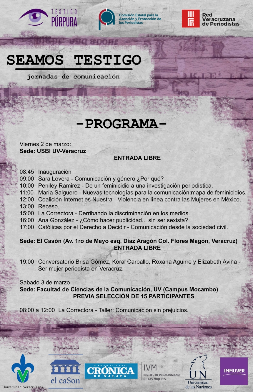 Programa #SeamosTestigo