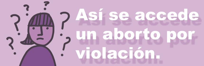 """banner que dice """"Así se accede a un aborto por violación"""""""